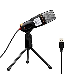 Tonor 高音質 第二世代 コンデンサーマイク スタジオレコーディング USB スカイプ/宅録/動画投稿/ゲーム実況 ブラック TN234BL