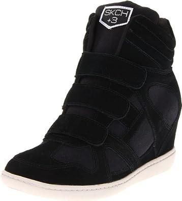 Skechers Women's Plus3 Raise The Bar Fashion Sneaker,Black,8.5 M US