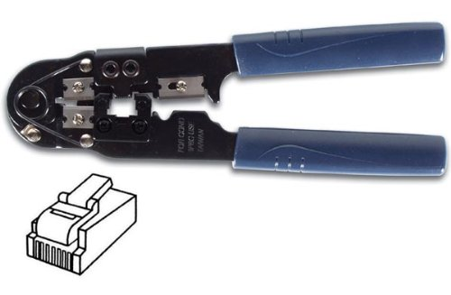TE-113B PROFESSIONAL 8 CONDUCTOR RJ-45 MODULAR NETWORK CRIMPER TOOL FOR 8P8C HEAVY DUTY