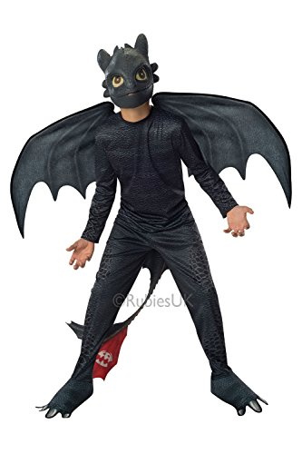 Rubies Childrens Toothless Night Fury How To Train Your Dragon 2 Fancy Dress Costume