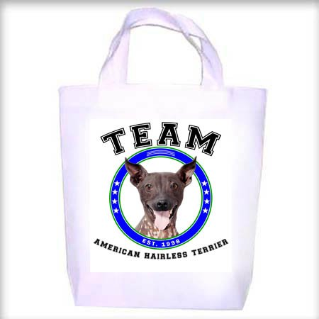 American Hairless Terrier TEAM Shopping - Dog Toy - Tote Bag