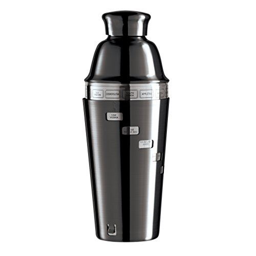 Mirror Dial-A-Drink Cocktail Shaker with 15 Recipes (Nickel Plated Finish) (Oggi Dial A Drink compare prices)