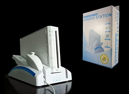 BestDealUSA Wii Multi-Funcion Charger Station With 2 Rechargeable Battery