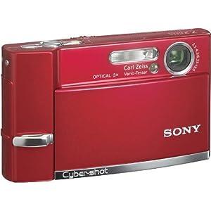 Sony Cyber-shot DSCT50 Red 7.2 Megapixel Digital Camera