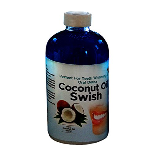 Virgin Coconut Oil Swish: Excellent for Teeth Whitening, Dry Mouth, Oil Pulling, & Oral Detox - Helps Resolve Bad Breath and Removes Tea & Coffee Stains on Teeth - Risk Free Money Back Guarantee