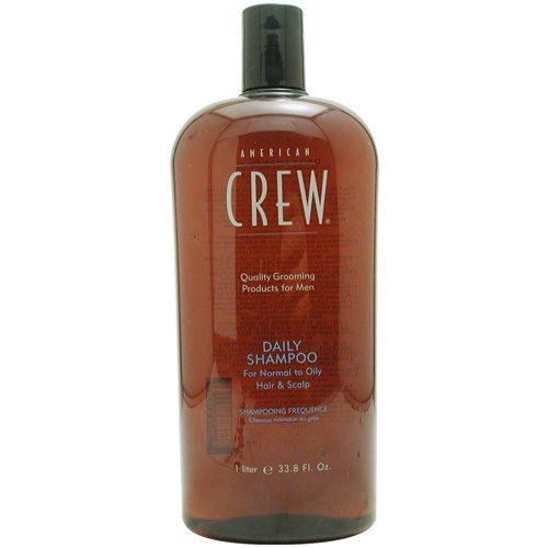 American Crew Daily Shampoo, For Normal to Oily Hair and Scalp, 33.8-Ounce Bottles (Pack of 2) - Packaging May Vary