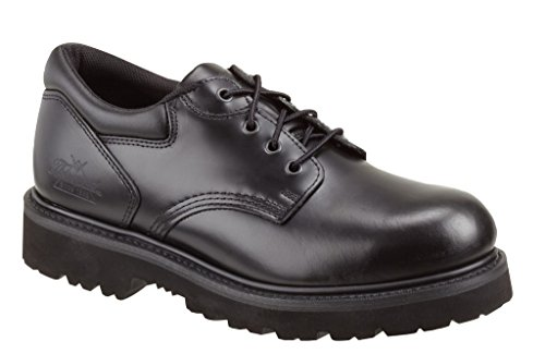 Thorogood Men Classic Black Leather Academy Oxford Safety Toe Work Shoe – 9.5 M