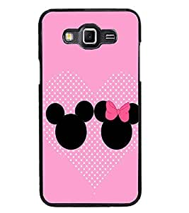 PrintDhaba Mickey and Minnie D-2359 Back Case Cover for SAMSUNG GALAXY GRAND 3 (Multi-Coloured)