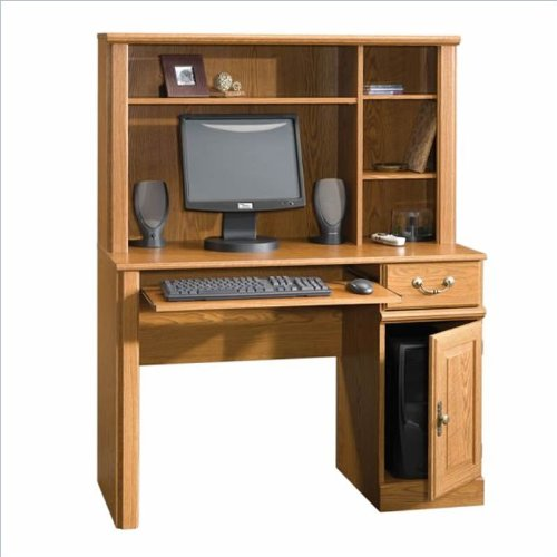 Small Wood Computer Desk ~ Sauder orchard hills small wood computer desk with hutch
