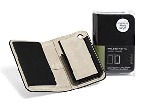 Moleskine Smart Phone Cover and Volant Notebook (iPhone 3G and 3GS), Black (Travel Collection)