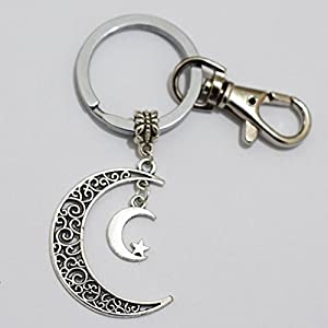 silver moon keychain gorgeous keychain
