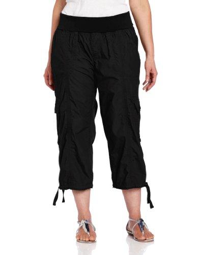 fae74b121fee Calvin Klein Performance Women s Plus-Size Roll Waist Cargo Capri ...