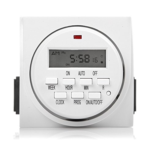 Century 7 Day Heavy Duty Digital Programmable Timer - Dual Outlet (Power Timer Outlet compare prices)