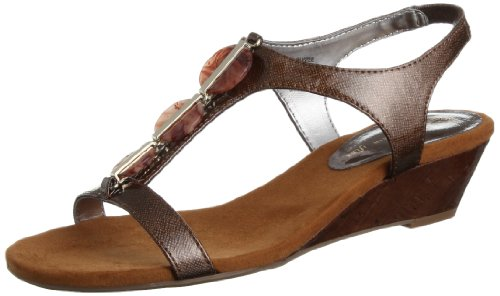 ea2d6a6bc2d AK Anne Klein Women s Dustee Synthetic Wedge Sandal - Import It All
