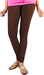Anuze Fashions Brown Cotton Lycra Ruby Design Legging
