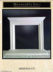 Mantel and Surround in Paint Grade Gypsum - Cast Fireplace Mantel