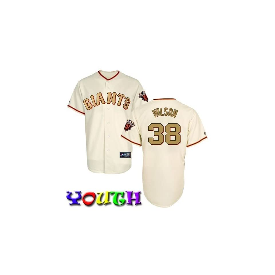 Brian Wilson Youth Replica Jersey   San Francisco Giants Jerseys (Gold)