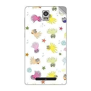 Garmor Designer Mobile Skin Sticker For Spice MI- 515 - Mobile Sticker