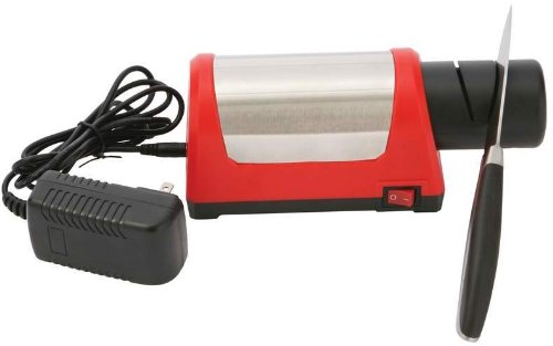 """Maxam Electric Diamond Wheel Knife Sharpener *** Product Description: Features Abs And Stainless Steel Construction. Ul Approved. Measures 7-7/8"""" X 3"""" X 3-1/8"""". Gift Boxed. ***"""