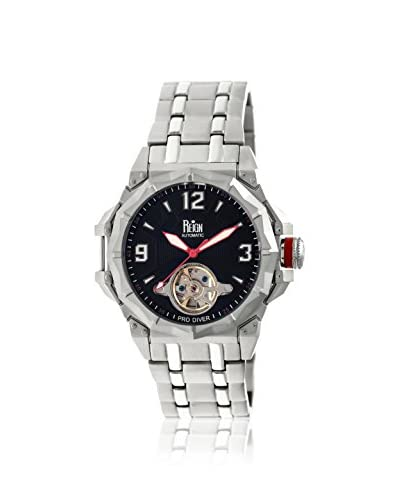 Reign Automatic Men's Hapsburg Black Stainless Steel Watch