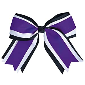 JUMBO 3 COLOR HAIR BOW PURPLE