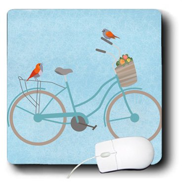 3drose Birds On Bicycle - Mouse Pad