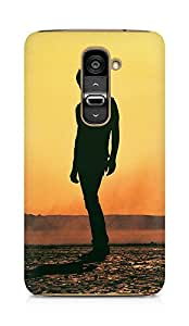 Amez designer printed 3d premium high quality back case cover for LG G2 (Tycho art sun man music)