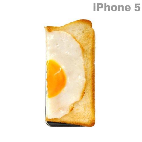 docomo au SoftBank iPhone5 iPhone5S 対応 食品サンプル iPhone ケース カバー ジャケット (パン/右)