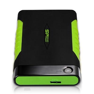 Silicon Power Rugged Armor A15 500GB 2.5-Inch USB 3.0  External Hard Drive (Black)