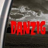 Danzig Music Rock Band Logo Red Decal Window Red Sticker