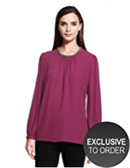 Autograph Beaded Neckline Top