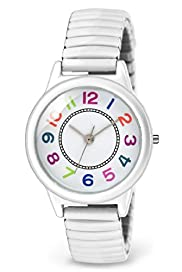 Multicoloured Expandable Strap Analogue Watch