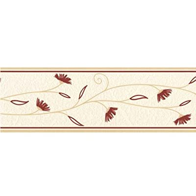 Fine Decor Petula Wallpaper Border Cream / Red / Beige from Fine Decor