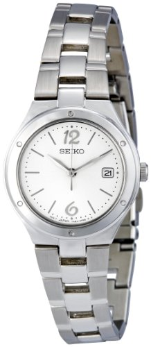 Seiko Women's SXDC47 Silver Dial Stainless Steel Watch