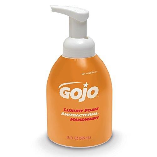 gojo-5762-04-18-oz-luxury-foam-antibacterial-handwash-case-of-4
