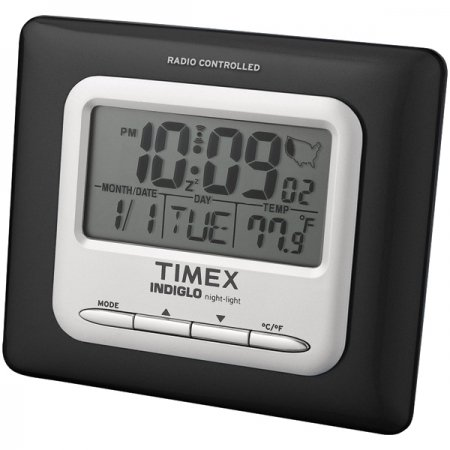 Timex T045B Radio Controlled Atomic Alarm Clock (Black)