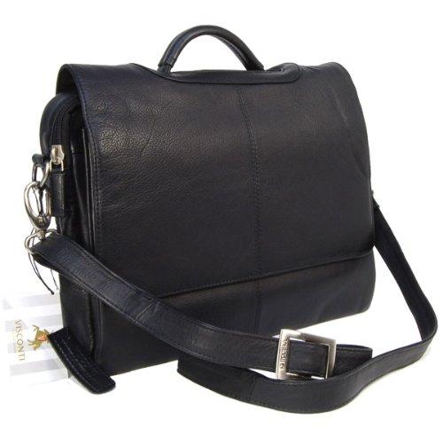 sacs bandouli re visconti sac gibeci re serviette pour le bureau en cuir souple noir 659. Black Bedroom Furniture Sets. Home Design Ideas