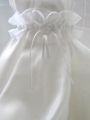Strumpfband aus Organza in weiß