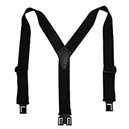 Perry Suspenders Mens Elastic Ruf-N-Tuf Hook End Suspenders (Tall Available), Tall, Black