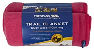 Trespass Camping Fleece Blanket - 100 x 140cm Soft Warm Touch Fleece (Cerise Pink)