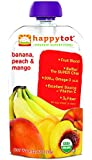Happy Tot Organic Toddler Food Variety Pack, Banana Peach & Mango, Sweet Potato Apple Carrot & Cinnamon, Spinach Mango Pear, 4 Pouches of each flavor. 12 Pouches total.