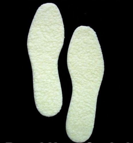 Women's FLEECE Insoles WARM Comfortable SOFT Shoes 7/8 (Plush Boot Liner compare prices)