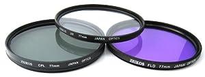 Zeikos ZE-FLK77 77mm Multi-Coated 3 Piece Filter Kit (UV-CPL-FLD)