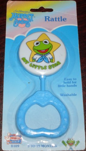 1989-Henson-Associates-Inc-Remco-Baby-Jim-Hensons-Muppet-Babies-Baby-Rattle-My-Little-Star-Kermit-The-Frog-Remco-Baby-Rattle-ItemB109
