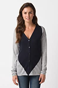 Long Sleeve Diamond V-Neck Cardigan