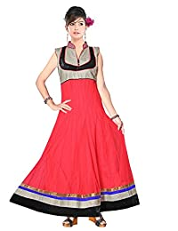 Red Apple Readymade Anarkali Dress With Exclusive Design - B01B4KHTLC