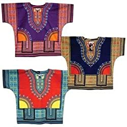 Traditional Print Unisex Dashiki Top - Many Colors Available