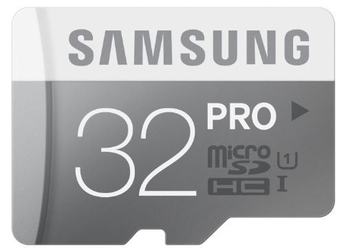 Samsung Memory 32GB PRO MicroSDHC UHS-I Grade 1 Class 10 Speicherkarte Memory Card (bis zu 90MB/s Transfergeschwindigkeit) mit SD Adapter