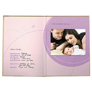 Hama Baby Tagebuch Baby Feel für Jungen und Mädchen (Album 20, 5 x 28 cm, Babytageb