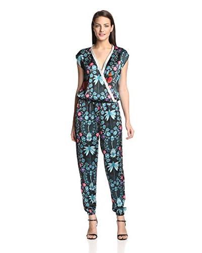Haute Affaires Women's Wrap Silk Printed Jumpsuit